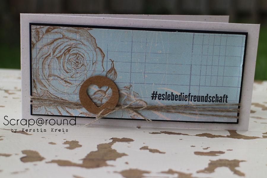 """Karte """"Freundschaft"""" Stampin´ Up! Stempelset #hallo und DesignerPapier Flohmarkt"""