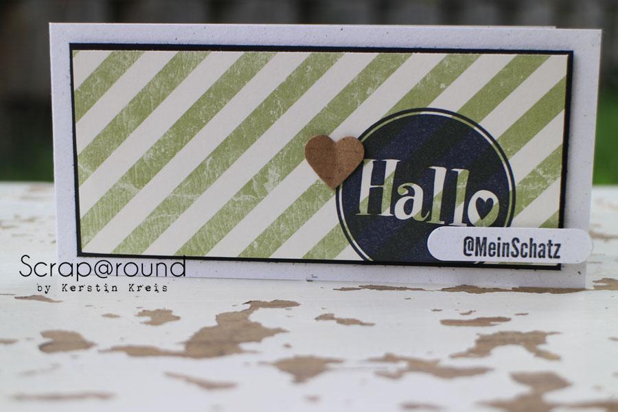 """Karte """"Hallo mein Schatz"""" Stampin´ Up! Stempelset #hallo und DesignerPapier Flohmarkt"""
