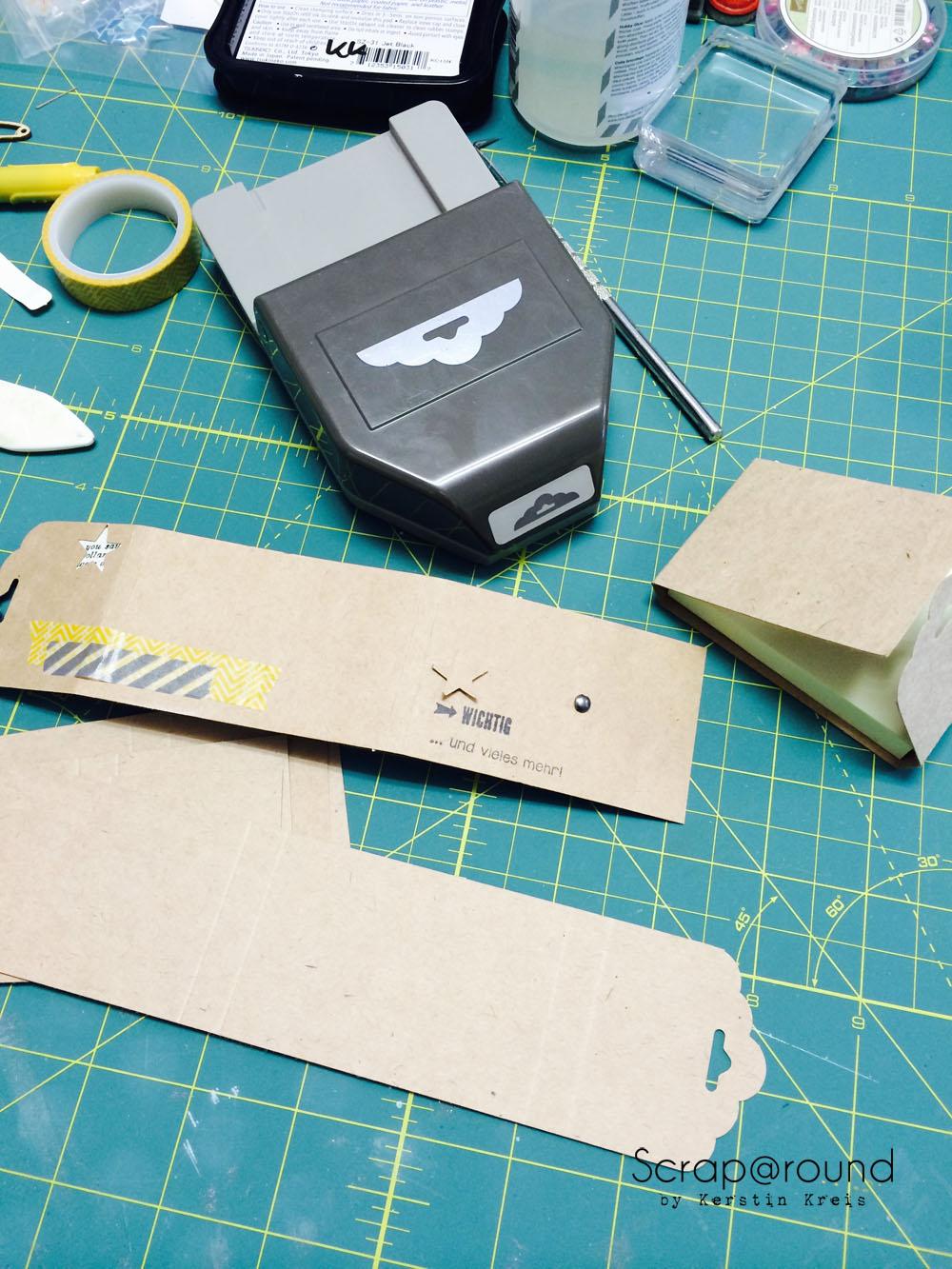 PostIt Büchlein nett verpackt mit Stampin´ Up! Kraft Cardstock Detailbild 2