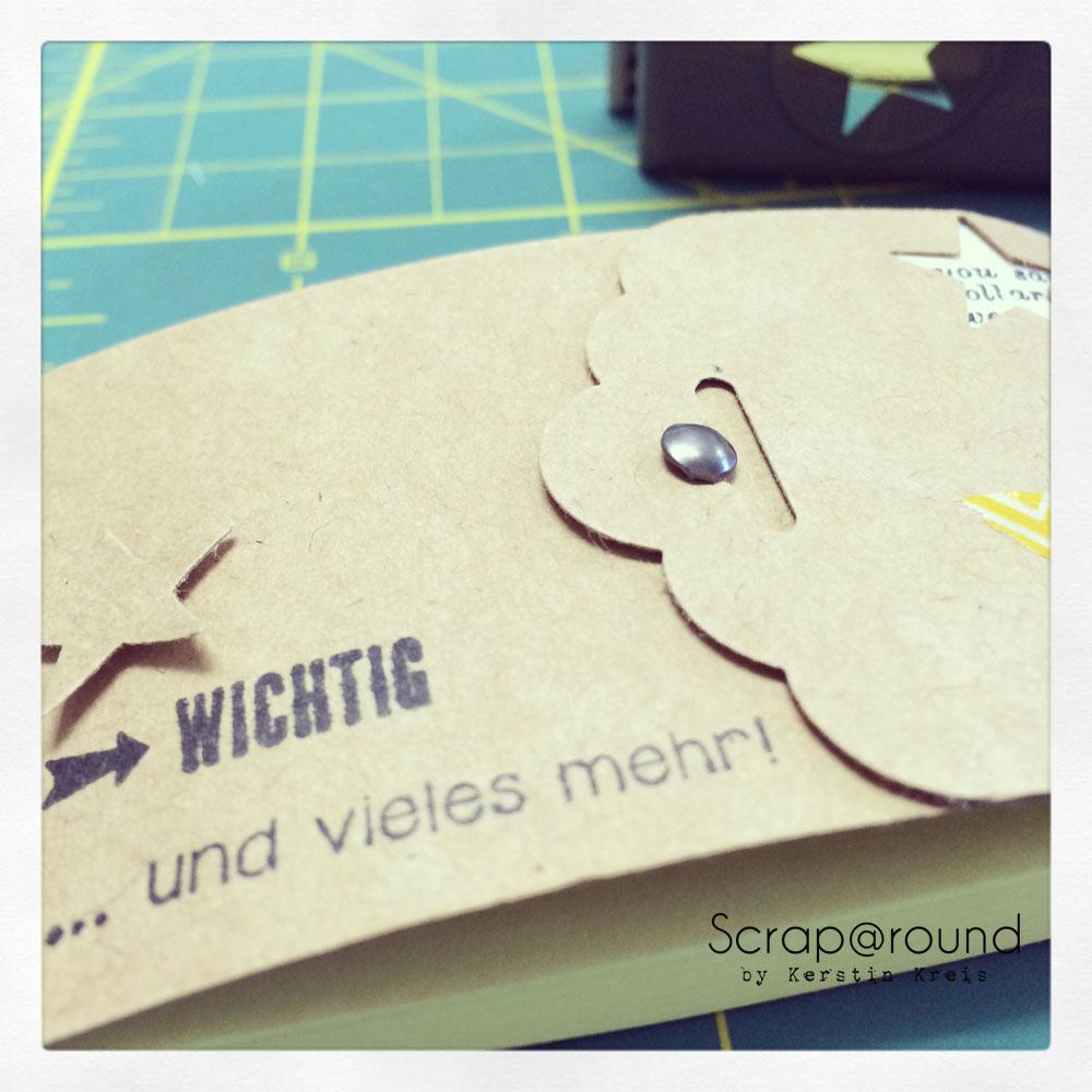 PostIt Büchlein nett verpackt mit Stampin´ Up! Kraft Cardstock Detailbild 4