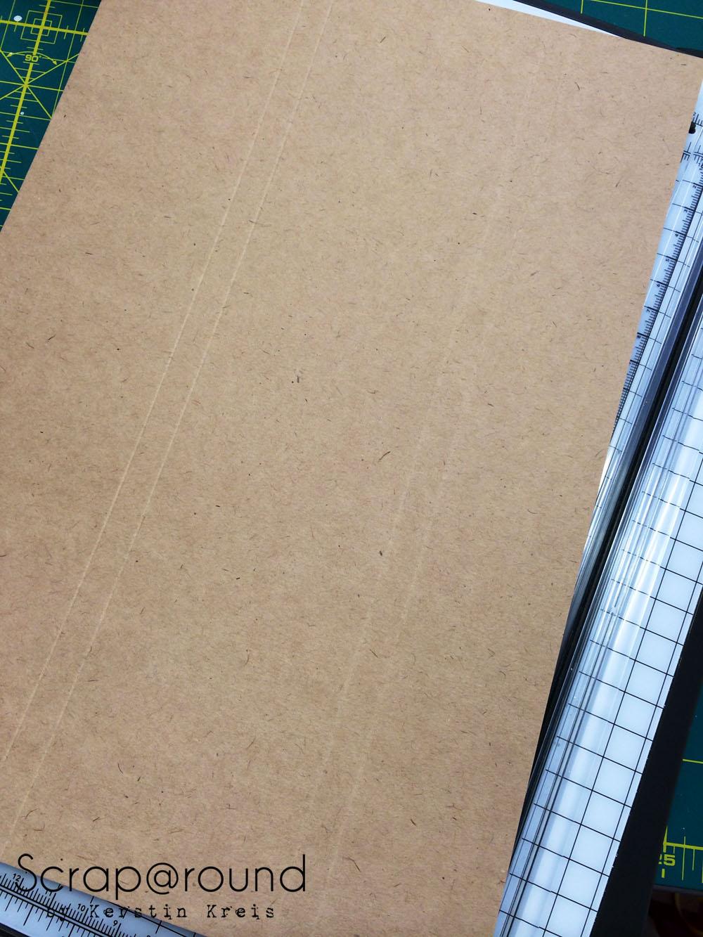 PostIt Büchlein nett verpackt mit Stampin´ Up! Kraft Cardstock Detailbild 1