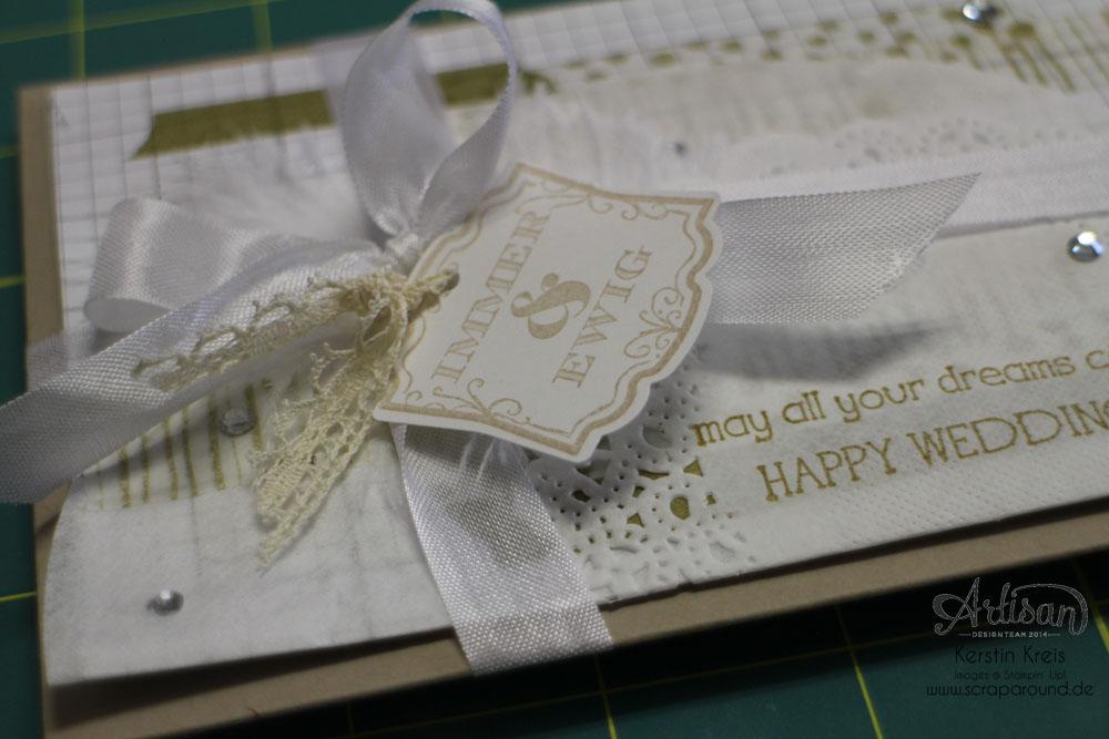 """Hochzeitsgeschenk mit StempelSet """"Eins für alles"""" Stampin´ Up! Artisan DesignTeam BlogHop 28.08.2014 Detailbild7"""