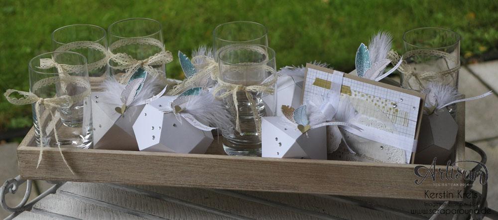 """Hochzeitsgeschenk mit StempelSet """"Eins für alles"""" Stampin´ Up! Artisan DesignTeam BlogHop 28.08.2014"""