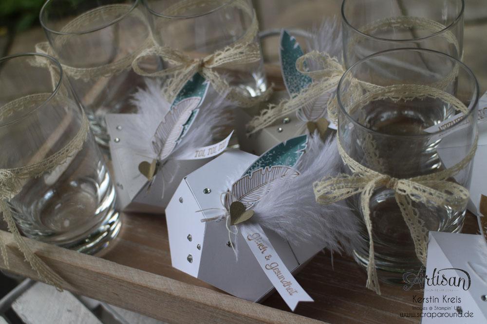 """Hochzeitsgeschenk mit StempelSet """"Eins für alles"""" Stampin´ Up! Artisan DesignTeam BlogHop 28.08.2014 Detailbild1"""