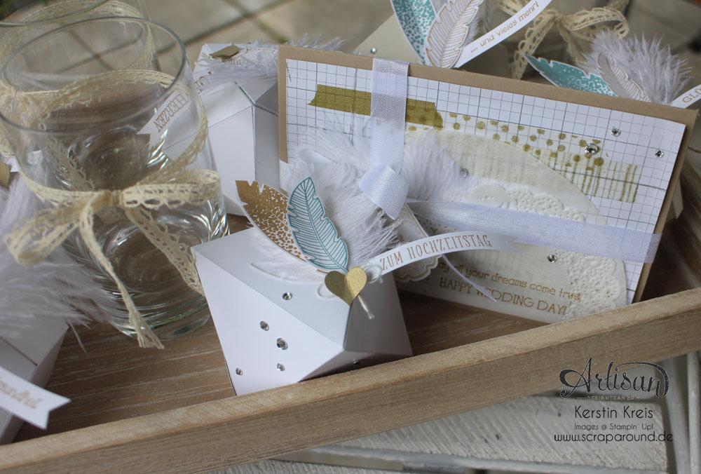"""Hochzeitsgeschenk mit StempelSet """"Eins für alles"""" Stampin´ Up! Artisan DesignTeam BlogHop 28.08.2014 Detailbild3"""