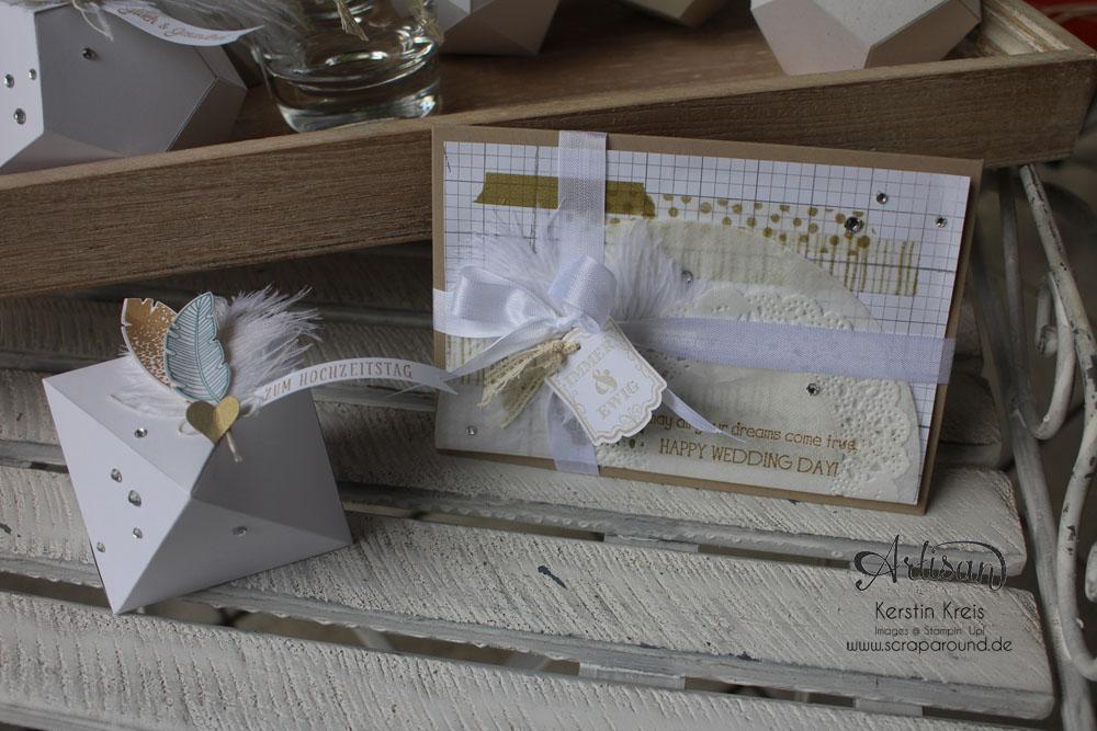 """Hochzeitsgeschenk mit StempelSet """"Eins für alles"""" Stampin´ Up! Artisan DesignTeam BlogHop 28.08.2014 Detailbild2"""