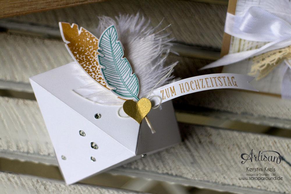 """Hochzeitsgeschenk mit StempelSet """"Eins für alles"""" Stampin´ Up! Artisan DesignTeam BlogHop 28.08.2014 Detailbild4"""