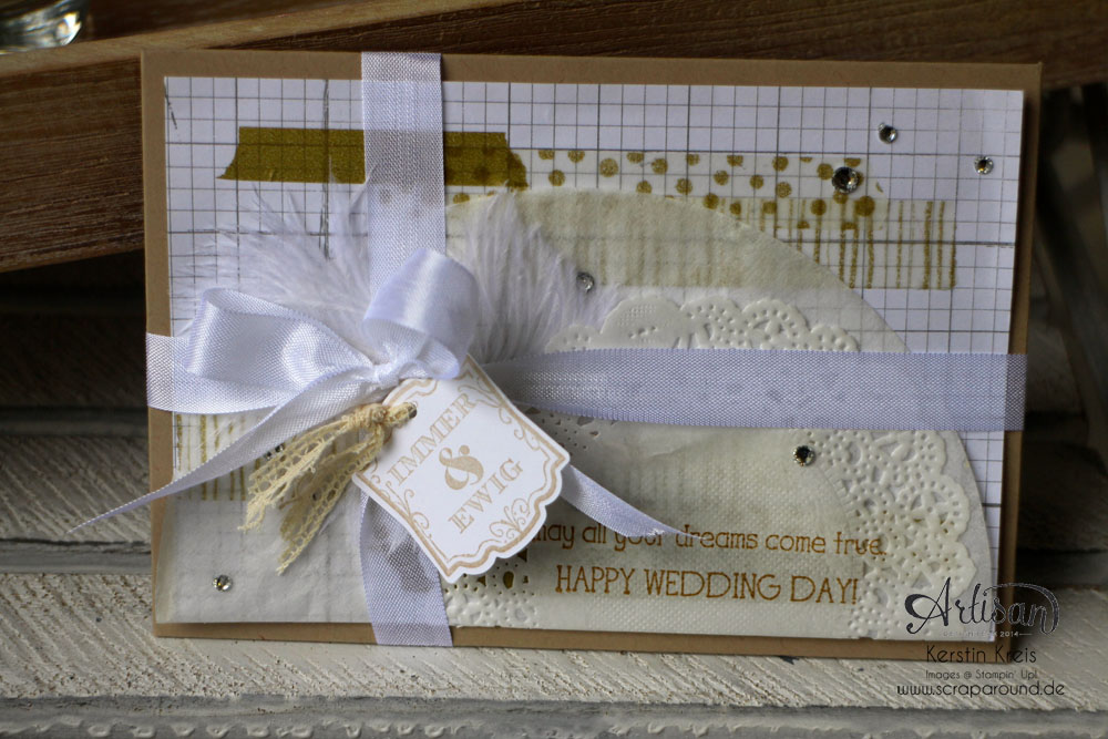 """Hochzeitsgeschenk mit StempelSet """"Eins für alles"""" Stampin´ Up! Artisan DesignTeam BlogHop 28.08.2014 Detailbild6"""