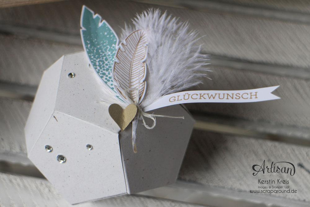 """Hochzeitsgeschenk mit StempelSet """"Eins für alles"""" Stampin´ Up! Artisan DesignTeam BlogHop 28.08.2014 Detailbild5"""