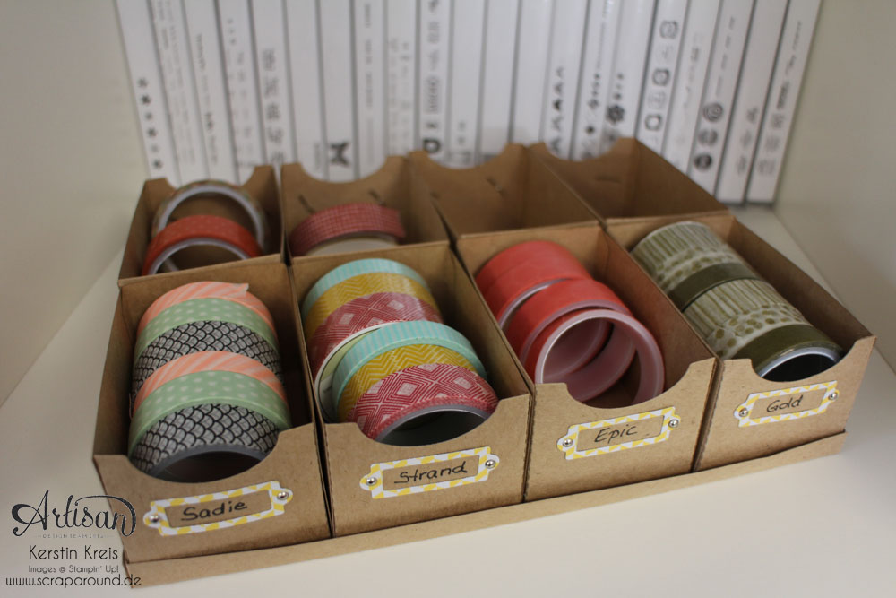 Artisan DesignTeam BlogHop Washi Tape Display aus Kraft Cardstock