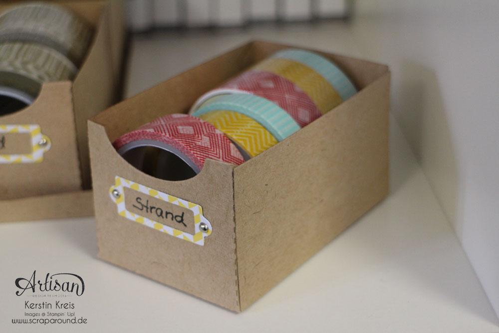 Artisan DesignTeam BlogHop Washi Tape Display aus Kraft Cardstock Detailbild2