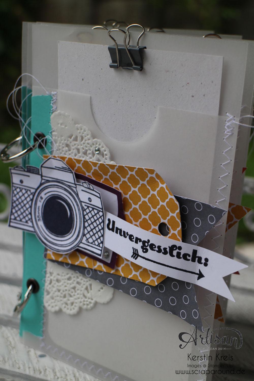 """MiniAlbum mit Zubehörset """"schnelle Überraschung"""" Stampin´ Up! Artisan DesignTeam BlogHop 21.08.2014 Detailbild01"""