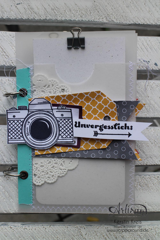 """MiniAlbum mit Zubehörset """"schnelle Überraschung"""" Stampin´ Up! Artisan DesignTeam BlogHop 21.08.2014 Detailbild02"""
