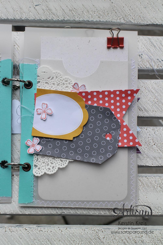 """MiniAlbum mit Zubehörset """"schnelle Überraschung"""" Stampin´ Up! Artisan DesignTeam BlogHop 21.08.2014 Detailbild04"""