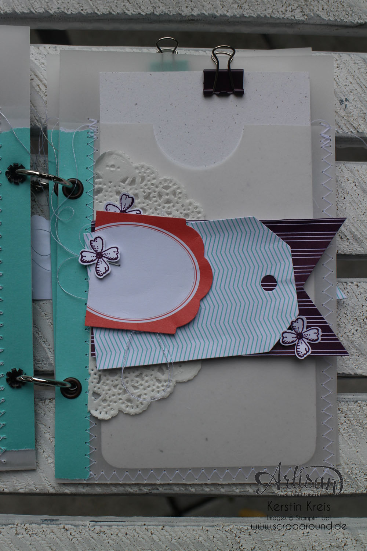 """MiniAlbum mit Zubehörset """"schnelle Überraschung"""" Stampin´ Up! Artisan DesignTeam BlogHop 21.08.2014 Detailbild05"""