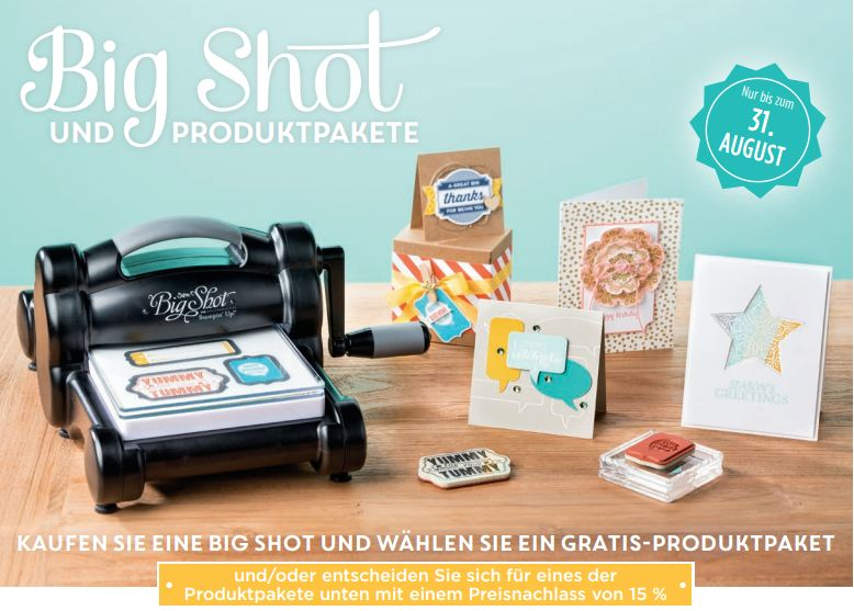 Stampin´ Up! Aktion August 2014 Produktpakete mit BigShot