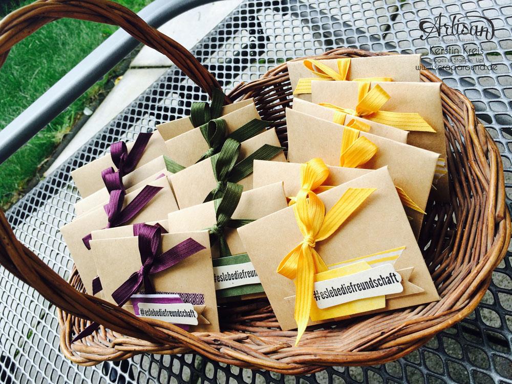 Goodies Katalogversand mit Thinlits Umschlag Geschenkkarte