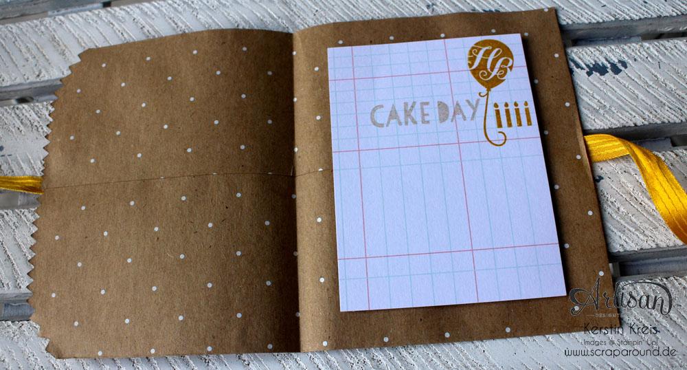 """Stamping & Blogging DT Sketch69 Karte mit Stampin´ Up! Geschenktüte """"Polka Dot"""" und Stempelset """"Age Awareness"""" Detailbild3"""