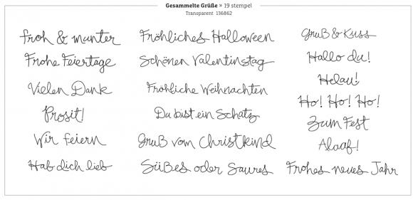 "Stempelset ""Gesammelte Grüße"" GG-Aktion 092014"