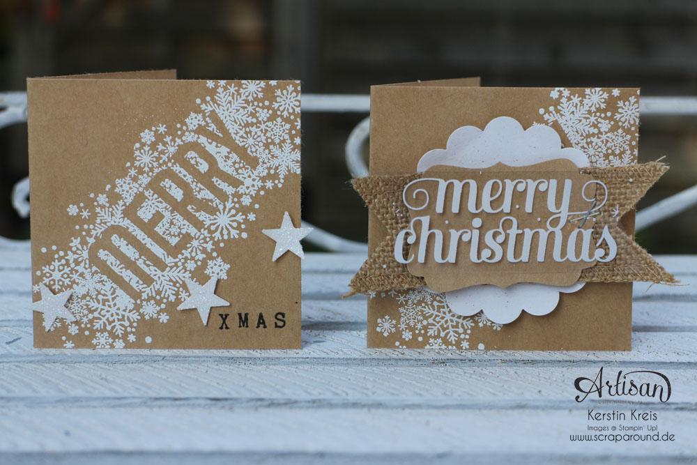 """Karten durch das ganze Jahr - Stampin´ Up! Artisan DesignTeam BlogHop 02.10.2014 - Karten mit Stampin´ Up! Stempelset """"Seasonally Scrattered"""" und Craft Cardstock Bild1"""
