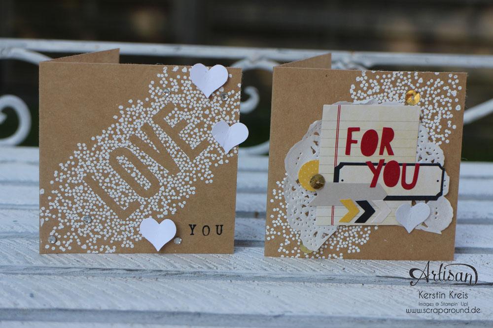 """Karten durch das ganze Jahr - Stampin´ Up! Artisan DesignTeam BlogHop 02.10.2014 - Karten mit Stampin´ Up! Stempelset """"Seasonally Scrattered"""" und Craft Cardstock Bild2"""