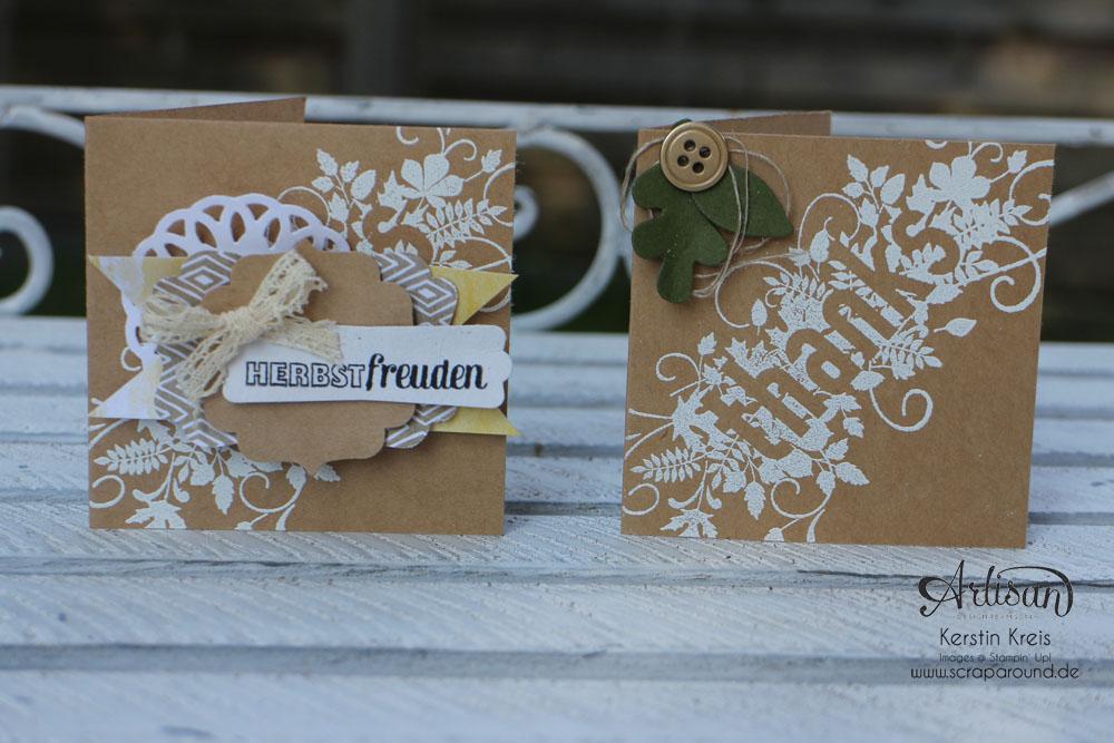 """Karten durch das ganze Jahr - Stampin´ Up! Artisan DesignTeam BlogHop 02.10.2014 - Karten mit Stampin´ Up! Stempelset """"Seasonally Scrattered"""" und Craft Cardstock Bild3"""
