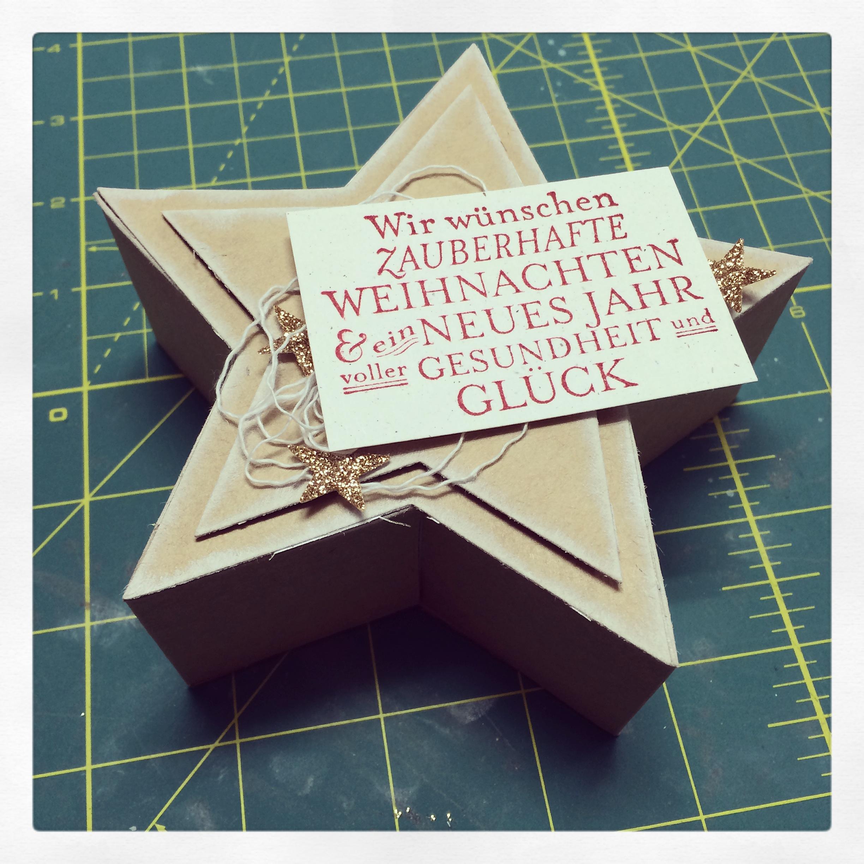 Sternenbox mit Kraft Cardstock