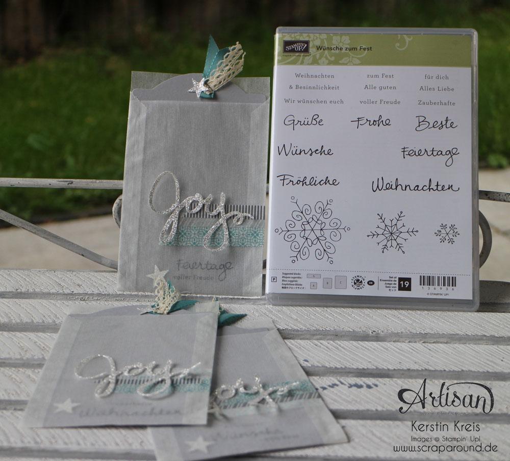 """Stamping & Blogging DT Sketch71 Einsteck-Karte mit Stempelset """"Wünsche zum Fest"""" Detailbild1"""