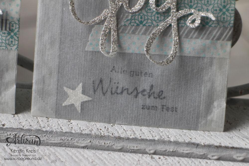 """Stamping & Blogging DT Sketch71 Einsteck-Karte mit Stempelset """"Wünsche zum Fest"""" Detailbild4"""