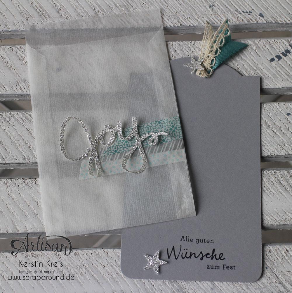 """Stamping & Blogging DT Sketch71 Einsteck-Karte mit Stempelset """"Wünsche zum Fest"""" Detailbild3"""
