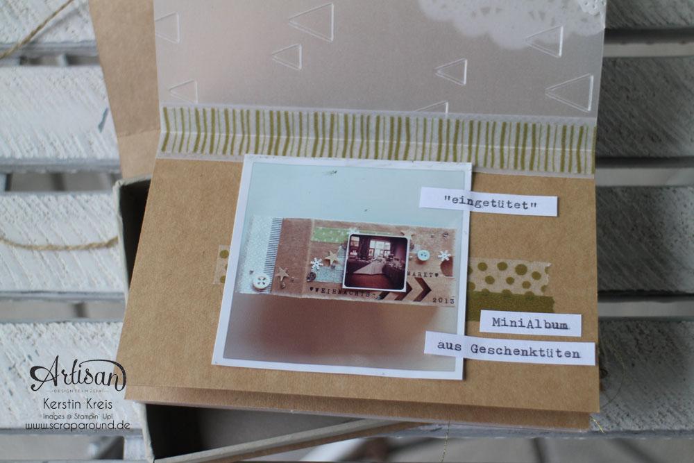 Memories in a Box – Stampin´ Up! Artisan DesignTeam BlogHop 09.10.2014 – MiniAlbum in der Box mit Kraft Cardstock und Gold-Transparentpapier Detailbild05