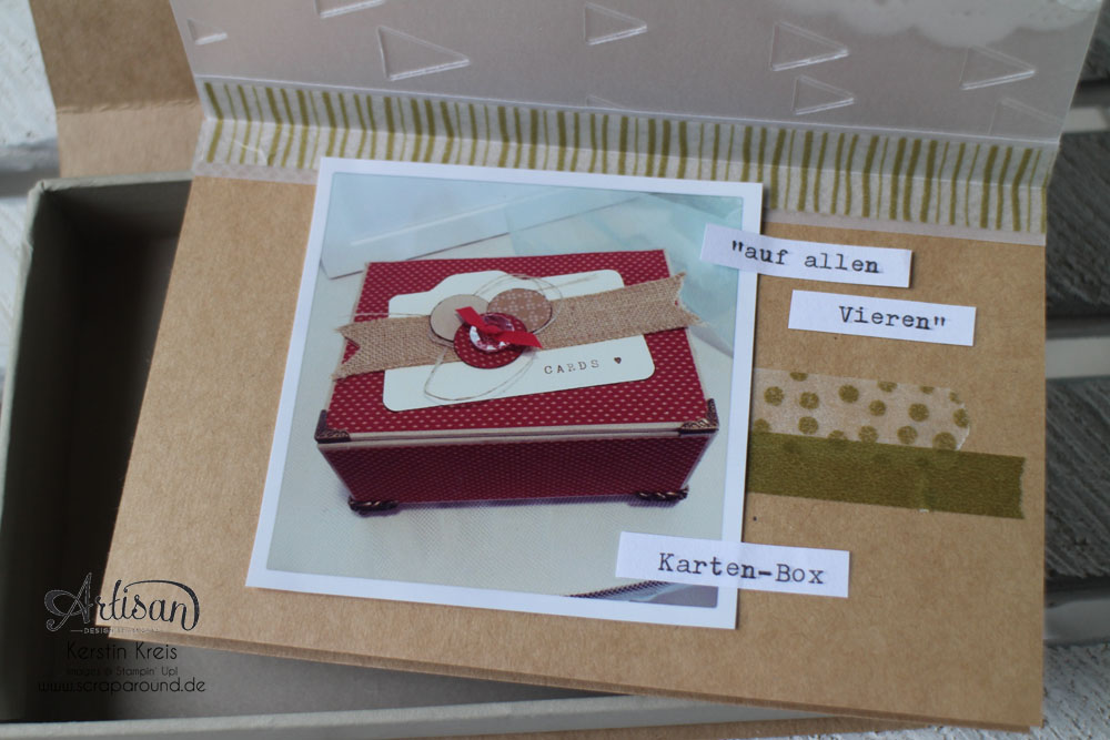 Memories in a Box – Stampin´ Up! Artisan DesignTeam BlogHop 09.10.2014 – MiniAlbum in der Box mit Kraft Cardstock und Gold-Transparentpapier Detailbild12