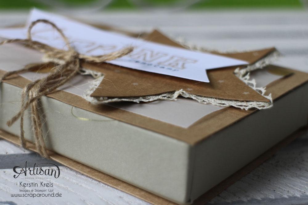 Memories in a Box – Stampin´ Up! Artisan DesignTeam BlogHop 09.10.2014 – MiniAlbum in der Box mit Kraft Cardstock und Gold-Transparentpapier Detailbild01