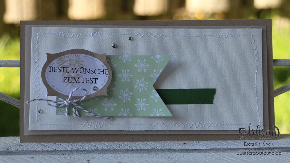 """Stamping & Blogging DT Sketch77 Karte mit ZubehörSet """"Unterm Christbaum"""