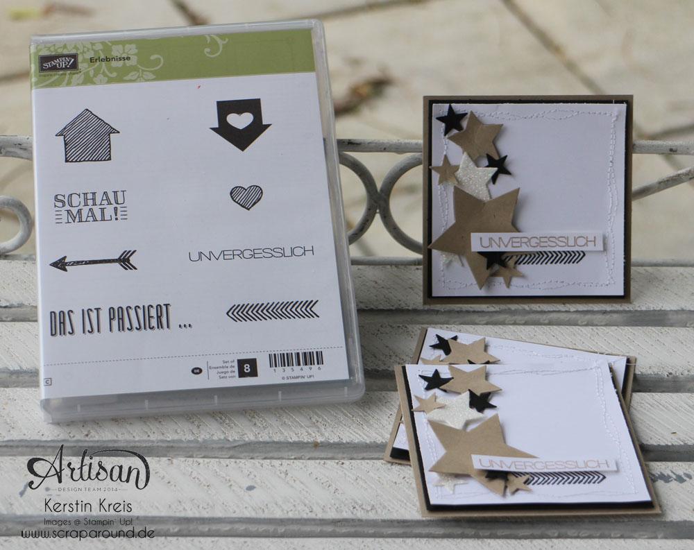 """Stamping & Blogging DT Sketch79 Karte """"unvergesslich"""" mit Sternen-Framelits und Set """"Erlebnisse"""" Detailbild1"""