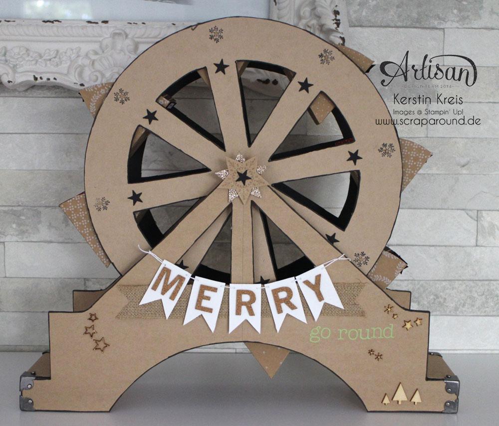 """""""merry-go-round"""" - Stampin´ Up! Artisan DesignTeam BlogHop 06.11.2014 - Riesenrad aus Cardstock"""