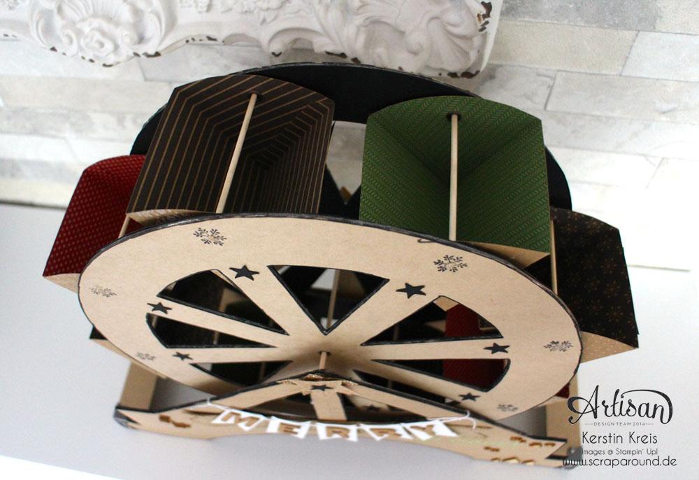 """""""merry-go-round"""" - Stampin´ Up! Artisan DesignTeam BlogHop 06.11.2014 - Riesenrad aus Cardstock Detailbild3"""