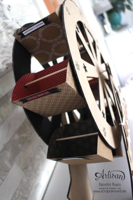"""""""merry-go-round"""" - Stampin´ Up! Artisan DesignTeam BlogHop 06.11.2014 - Riesenrad aus Cardstock Detailbild2"""