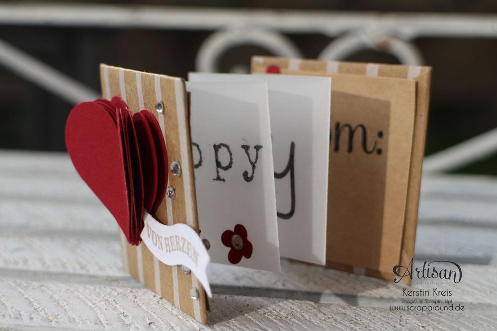 """""""Mini-Leporello"""" - Stampin´ Up! Artisan DesignTeam BlogHop 20.11.2014 - Mini-Leporello mit Pergament-Papier und Designer-Geschenkpapier """"Festtage"""" Detailbild01"""