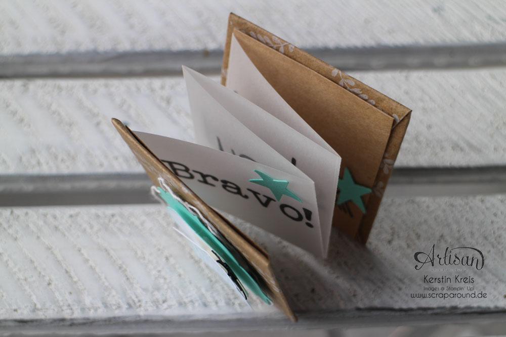 """""""Mini-Leporello"""" - Stampin´ Up! Artisan DesignTeam BlogHop 20.11.2014 - Mini-Leporello mit Pergament-Papier und Designer-Geschenkpapier """"Festtage"""" Detailbild06"""