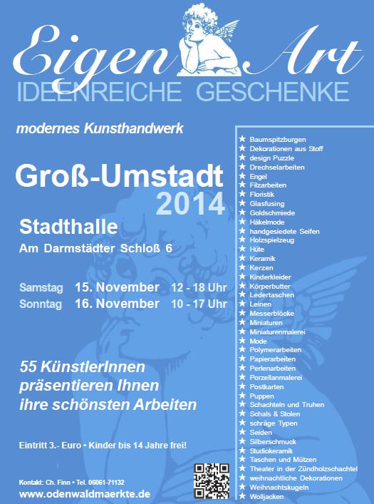 Flyer Ausstellung Eigen-Art 2014 Groß-Umstadt