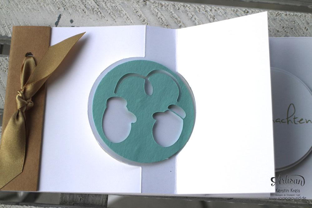 """Stamping & Blogging DT Sketch83 MiniAlbum """"happiness"""" mit Pop-Up-Karte Kreis Detailbild7"""