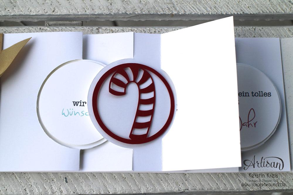 """Stamping & Blogging DT Sketch83 MiniAlbum """"happiness"""" mit Pop-Up-Karte Kreis Detailbild8"""