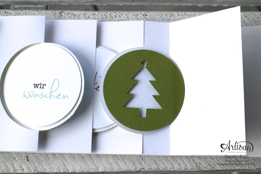 """Stamping & Blogging DT Sketch83 MiniAlbum """"happiness"""" mit Pop-Up-Karte Kreis Detailbild9"""