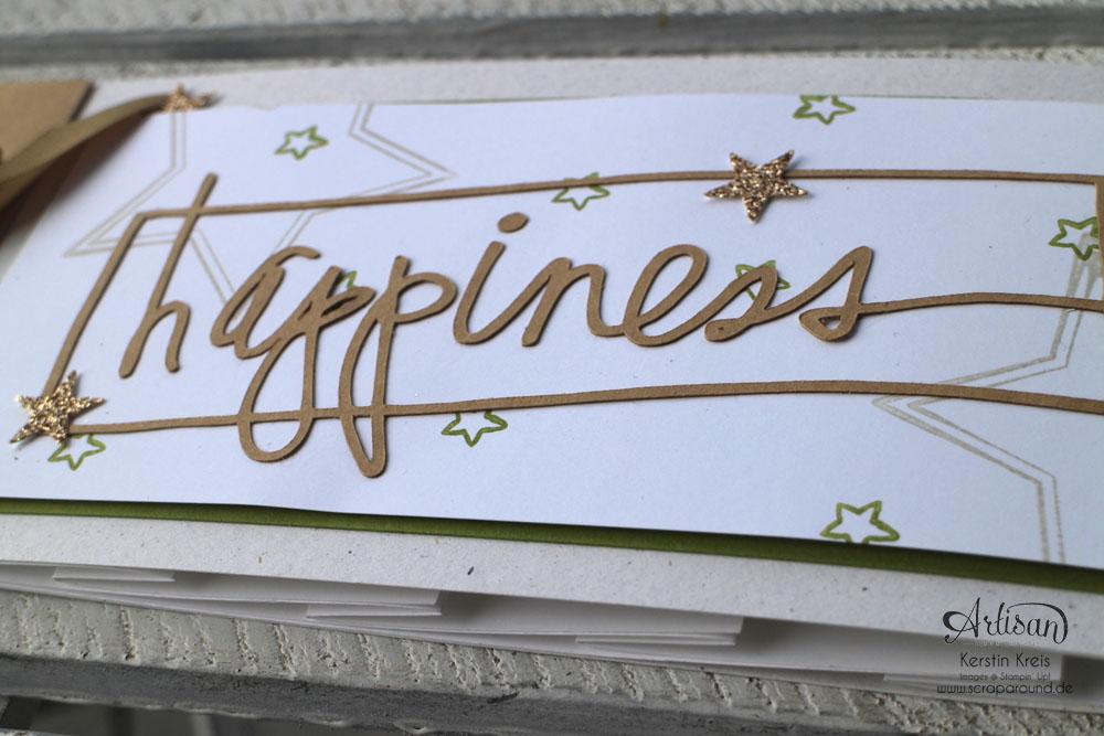 """Stamping & Blogging DT Sketch83 MiniAlbum """"happiness"""" mit Pop-Up-Karte Kreis Detailbild11"""
