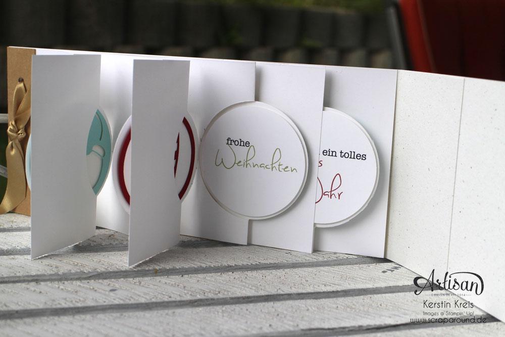 """Stamping & Blogging DT Sketch83 MiniAlbum """"happiness"""" mit Pop-Up-Karte Kreis Detailbild5"""
