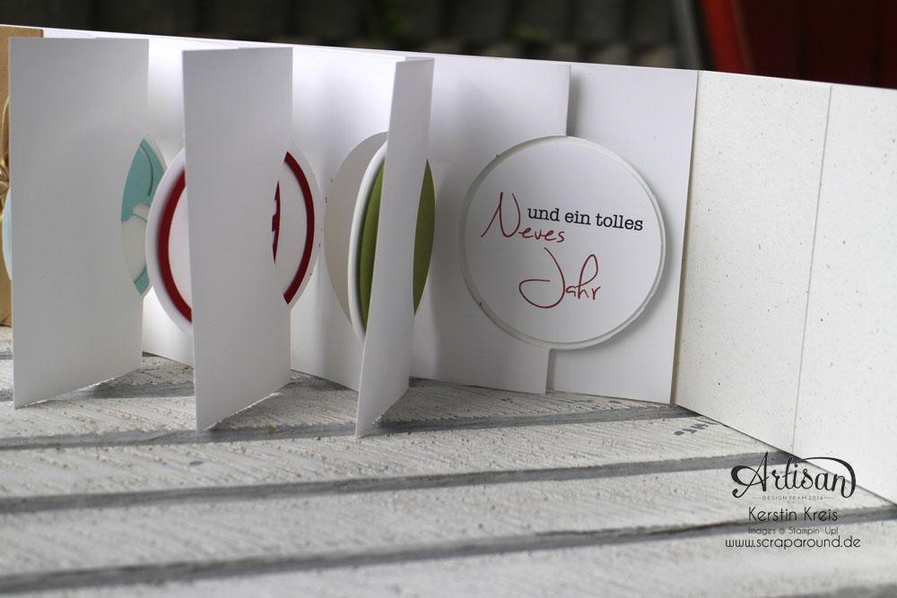 """Stamping & Blogging DT Sketch83 MiniAlbum """"happiness"""" mit Pop-Up-Karte Kreis Detailbild6"""