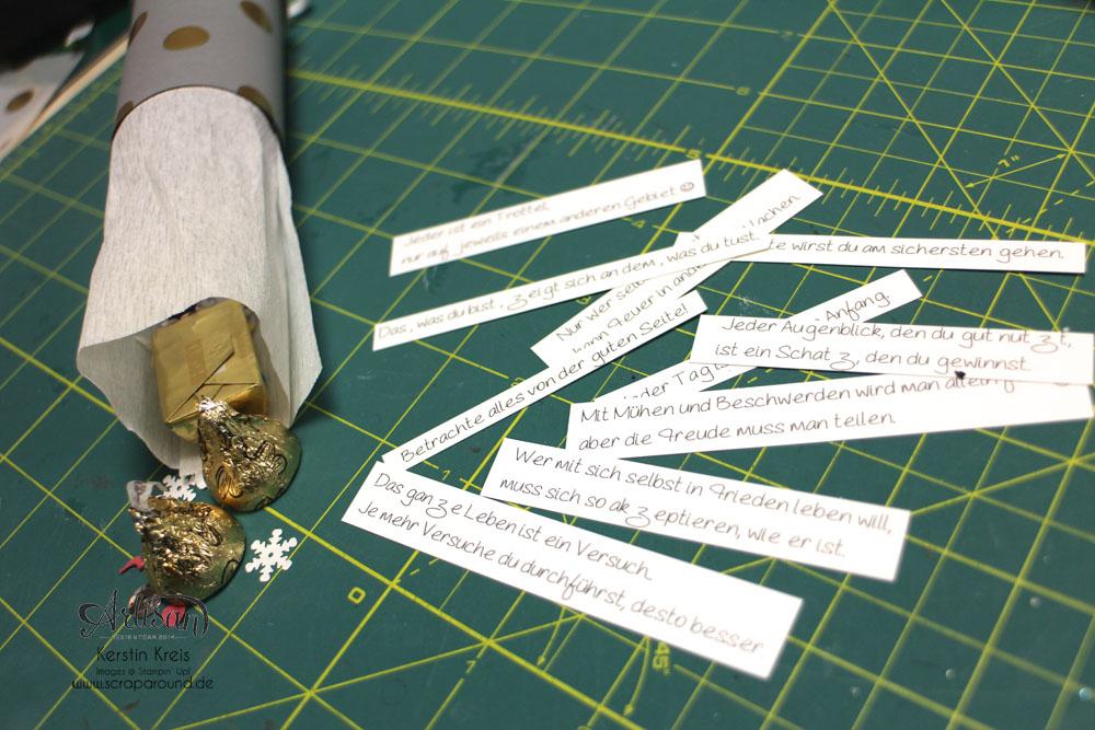 """""""Happy New Year 2015"""" - Stampin´ Up! Artisan DesignTeam BlogHop 01.01.2015 - Silvester-Deko mit viel Gold und Silber und Glitzerpapieren Detailbild12"""