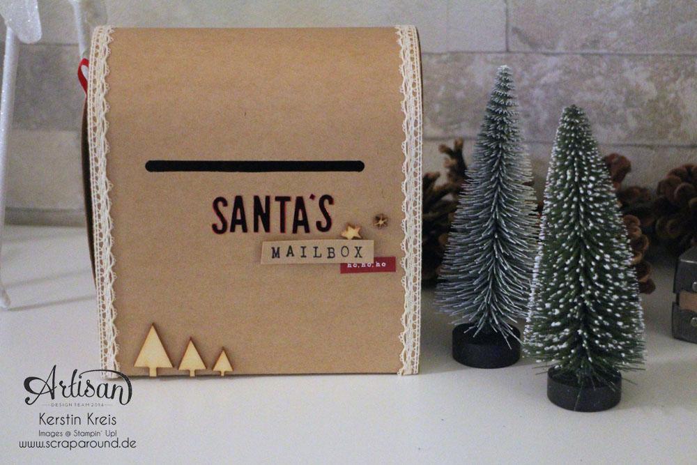 """Santa´s MailBox"" - Stampin´ Up! Artisan DesignTeam BlogHop 04.12.2014 -  Detailbild1"