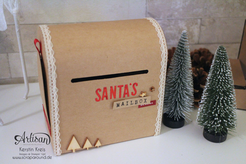 """Santa´s MailBox"" - Stampin´ Up! Artisan DesignTeam BlogHop 04.12.2014 -  Detailbild2"